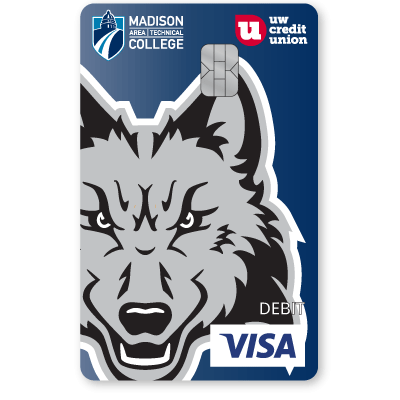 UW Credit Union Madison Area Technical College Wolfpack Debit Card.