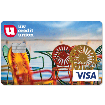 UW Credit Union Memorial Union Terrace Debt Card.
